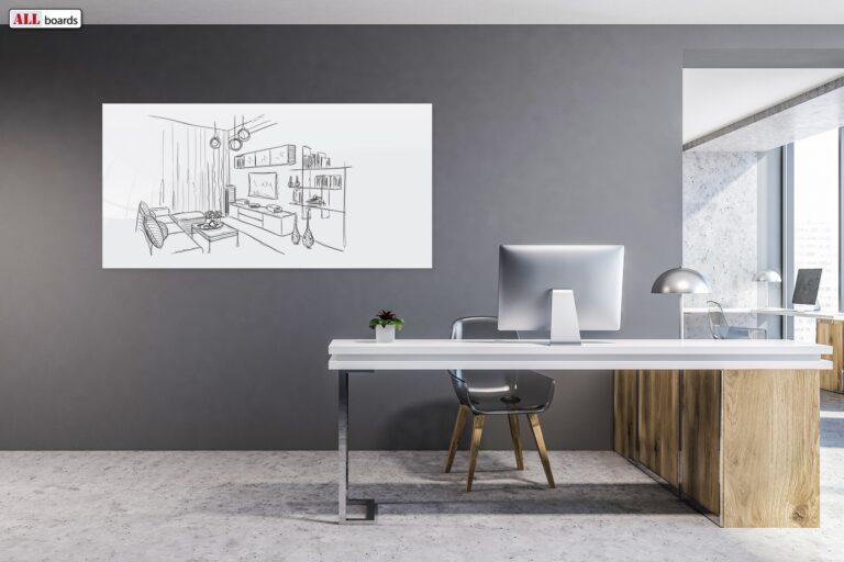 Magnetiline klaastahvel Premium SUPERWHITE kontor