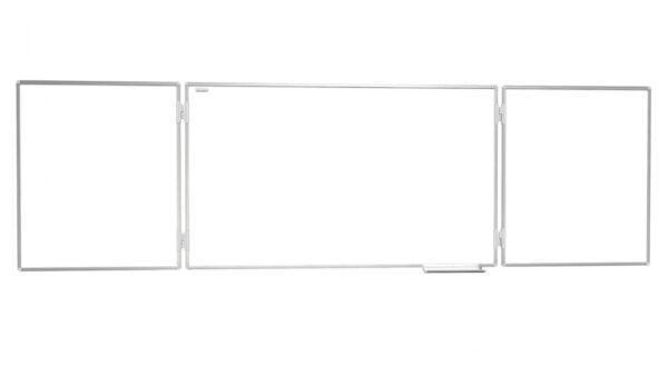 Allboards Valge kolmeosaline magnettahvel otse vaade