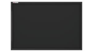Must kriiditahvel värvitud puitraam