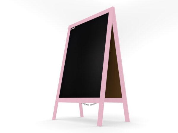Harkjalg puitraam värvitud roosa