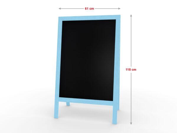 Harkjalg puitraam värvitud sinine mõõdud